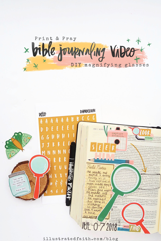 Print and Pray Bible Journaling Process Video by Jillian aka Jillsky | Seek Him | Acts 17:24-28