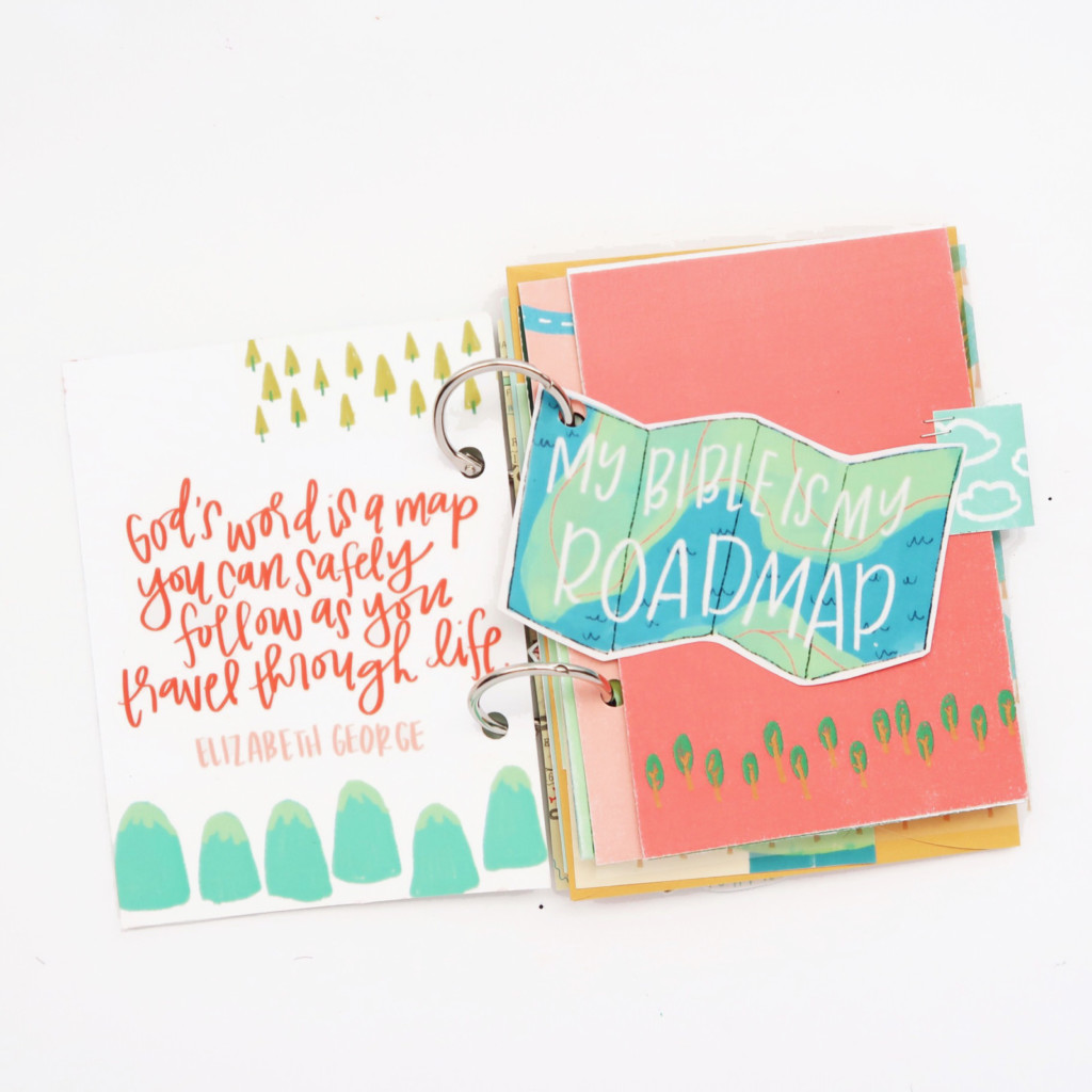 DIY Print and Pray Hybrid Summer Mini Book Video Process by Jillian aka Jillsky | Use Your Map