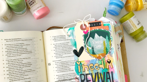 Bible Journaling Tutorial | Praying in a Revival | Faux Stained-Glass Margin | Psalm 85:6