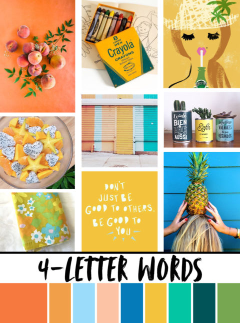 August Artist Mood Board & New Releases: 4-Letter Words