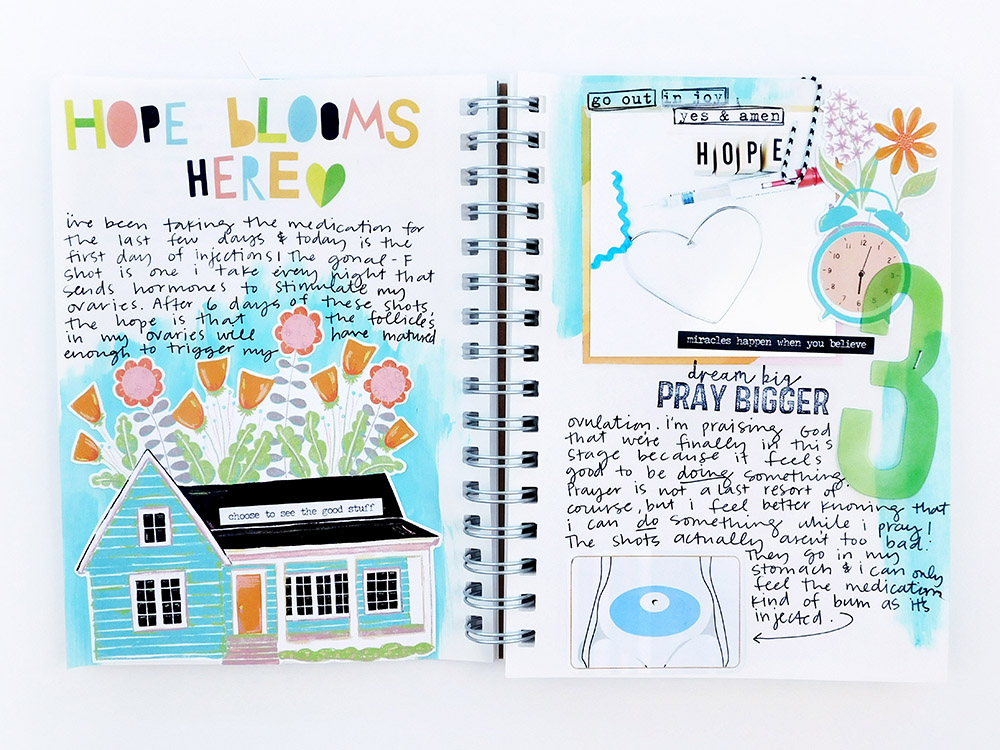 Print & Pray Hybrid Prayer Journal by Elaine Davis   Hope Blooms Here