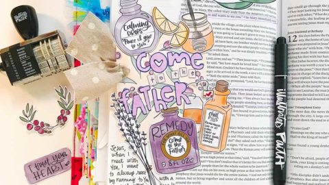 Print and Pray Hybrid Bible Journaling | Come to the Father