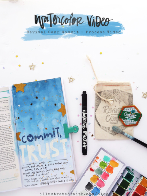 Revival Camp Commit | Traveler's Notebook Process Video