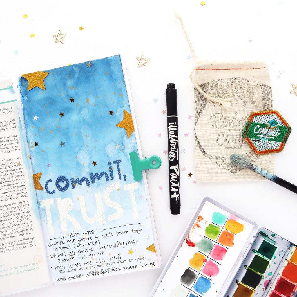 Revival Camp Commit by Jillian aka Hello Jillsky | Traveler's Notebook Process Video