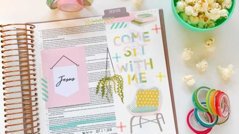 Print and Pray Hybrid Bible Journaling | Come Sit With Me | Philippians 4:6-7