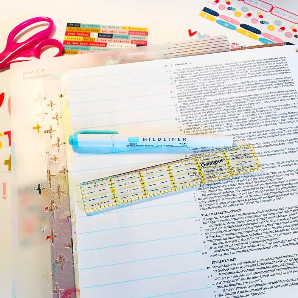 Print and Pray Hybrid Bible Journaling by Cristin Howell using digital printables   Just What I Need!