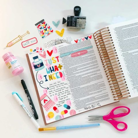 Print and Pray Hybrid Bible Journaling | Just What I Need!