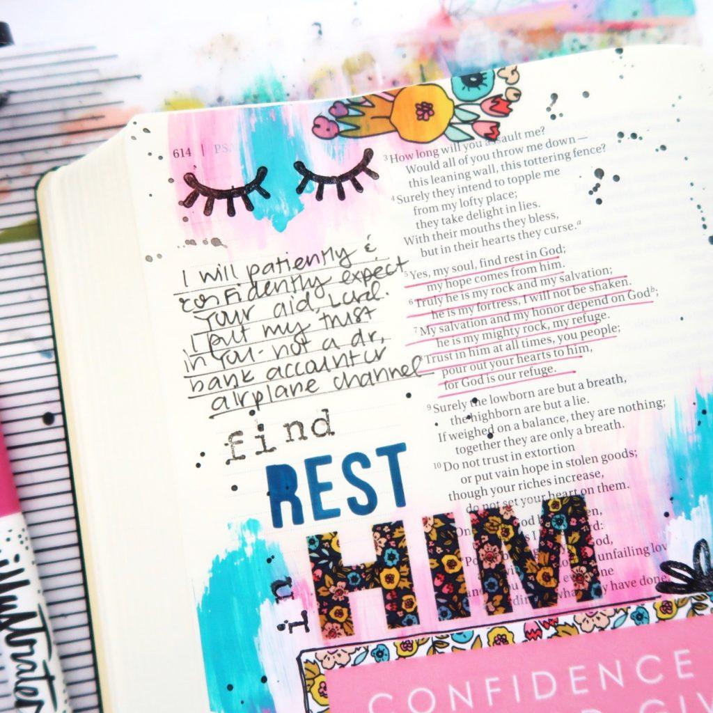 Print and Pray Bible Journaling Process Video by Jillian aka Hello Jillsky | It Is Well