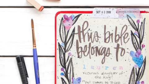 Print and Pray Bible Journaling Process Video | This Bible Belongs To