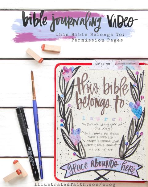 Print and Pray Bible Journaling Process Video | This Bible Belongs To