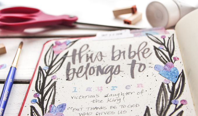 """This Bible Belongs To"" Page: Journaling Bible Process Video 