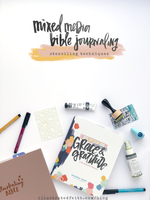 Mixed Media Bible Journaling | Stenciling Techniques 101