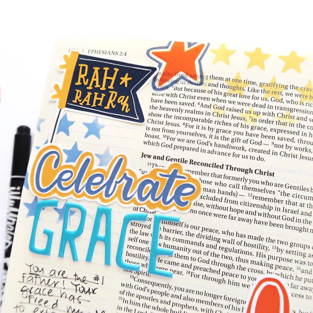 Print and Pray Bible Journaling Process Video by Jillian aka Hello Jillsky   Homecoming   Ephesians 2:4-5