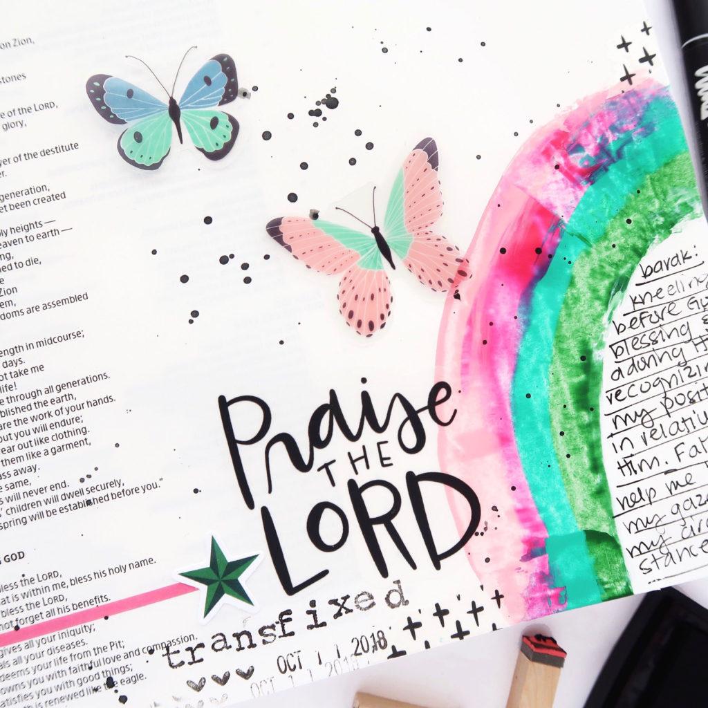 Bible Journaling Process Video by Jillian aka Hello Jillsky   Revival Camp - Praise   Psalm 103:1-2