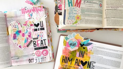 Bible Journaling | Where To Start in a New Bible | Acts 17:28
