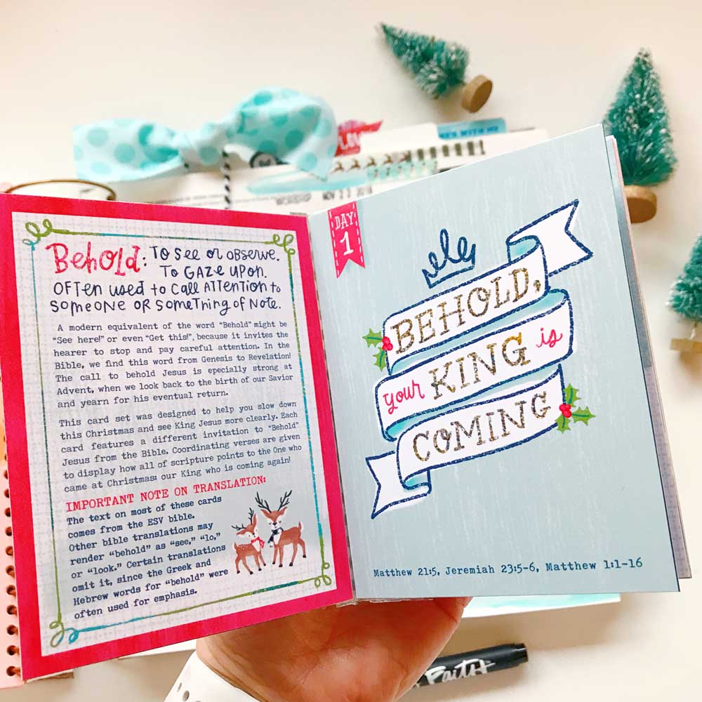 Hybrid Print and Pray Bible Journaling by Cristin Howell | The King is Coming | Matthew 1