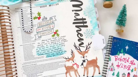 Hybrid Print and Pray Bible Journaling | The King is Coming | Matthew 1