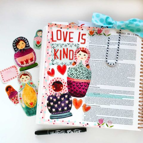 Print and Pray Hybrid Bible Journaling | Love is Kind | 1 Cor. 13