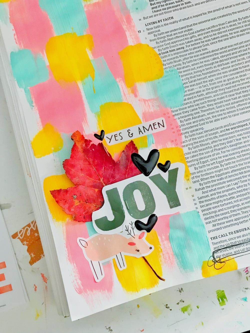 bible journaling 100 days of grace and gratitude with April aka marine parents | JOY | hebrews 12:1-2