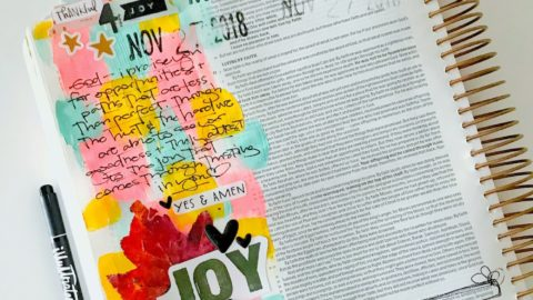 bible journaling 100 days of grace and gratitude | JOY | hebrews 12:1-2