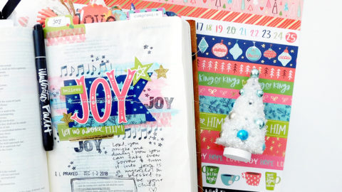 Print & Pray Hybrid Bible Journaling | JOY | Jeremiah 31:13
