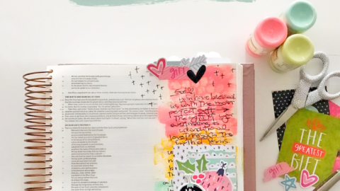 Mixed Media Bible Journaling Tutorial | Advent Layers | Luke 2:1