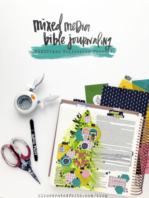 Mixed Media Bible Journaling | CHRISTmas Collection Paper Layering Process