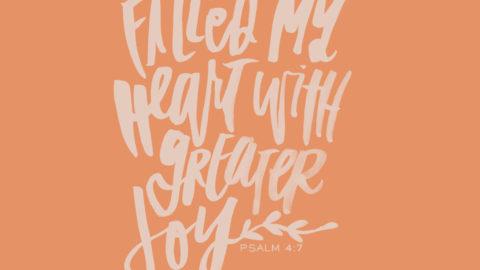 Sunday Inspiration from Psalm 4:7