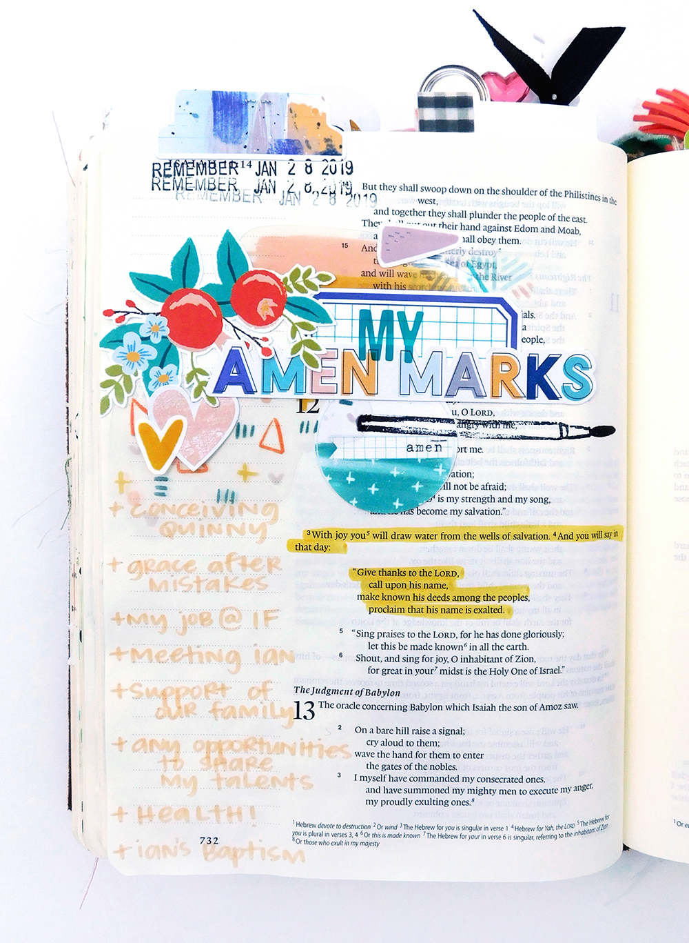 Print & Pray + The Mark Maker Kit // Part 2 Bible Journaling by Elaine Davis using digital printables