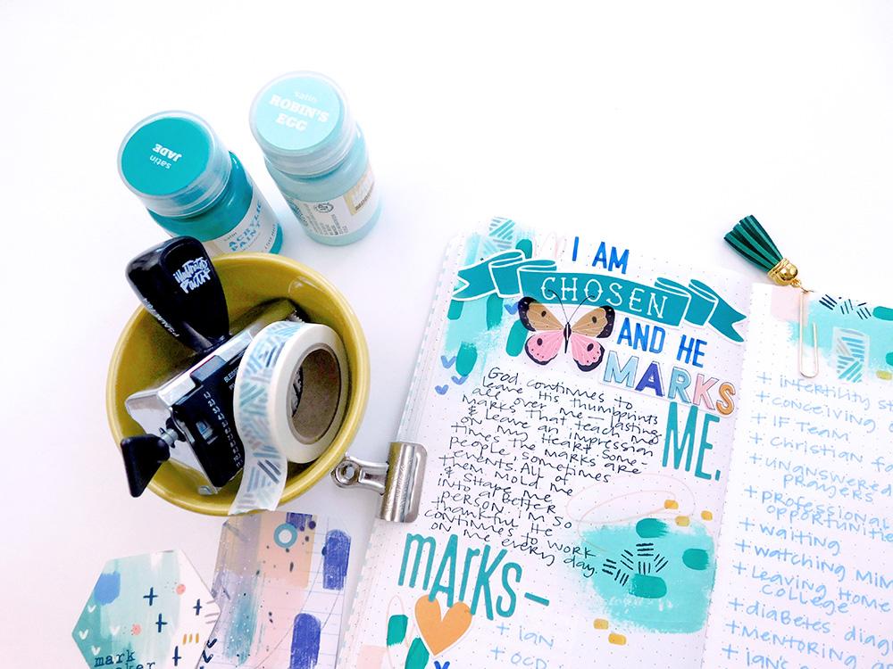 Print & Pray + The Mark Maker Kit | Traveler's Notebook | by Elaine Davis using digital printables