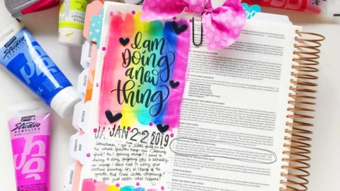 Mixed Media Print and Pray Bible Journaling | He's Doing a New Thing | Mark 4:26-29