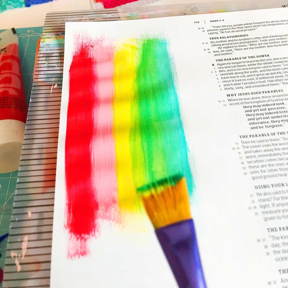 Mixed Media Print and Pray Bible Journaling by Cristin Howell | He's Doing a New Thing | Mark 4:26-29
