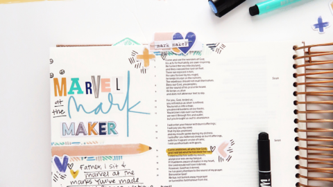 Marvel at the Mark Maker   Bible Journaling Process Video   Psalm 66:16