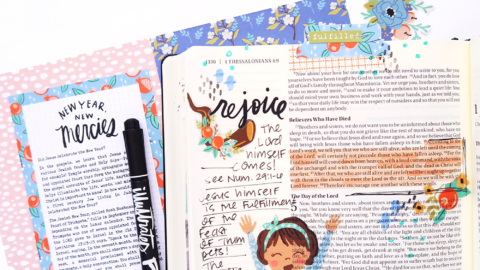 Print and Pray Bible Journaling Process Video | New Year, New Mercies | 1 Thessalonians 4:16