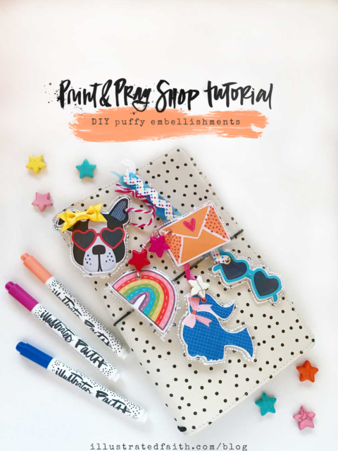 Print and Pray DIY Puffy Embellishments