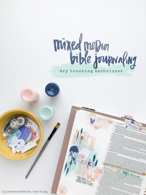 Mixed Media Bible Journaling Tutorial – Dry Brushing Techniques | Amen Maker – Deuteronomy 10:21