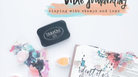 Mixed Media Bible Journaling Tutorial | Stamping and Inks | The Joy Journey: Matthew 3:8