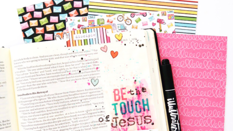 Print and Pray Hybrid Bible Journaling Process Video | Send Love | John 13:34-35