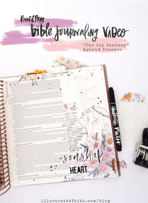 Bible Journaling Process Video   Joy Journey   1 John 3:1-6