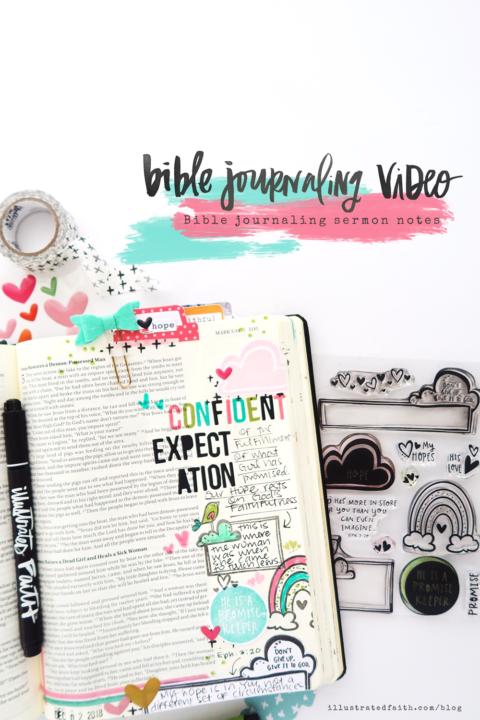 Bible Journaling Process Video | Rainbow Promises | Bible Journaling Sermon Notes | Mark 5:25-28