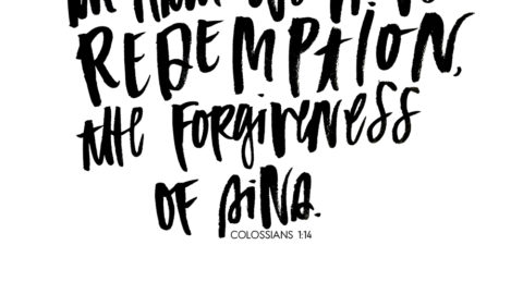 Sunday Inspiration from Colossians 1:14
