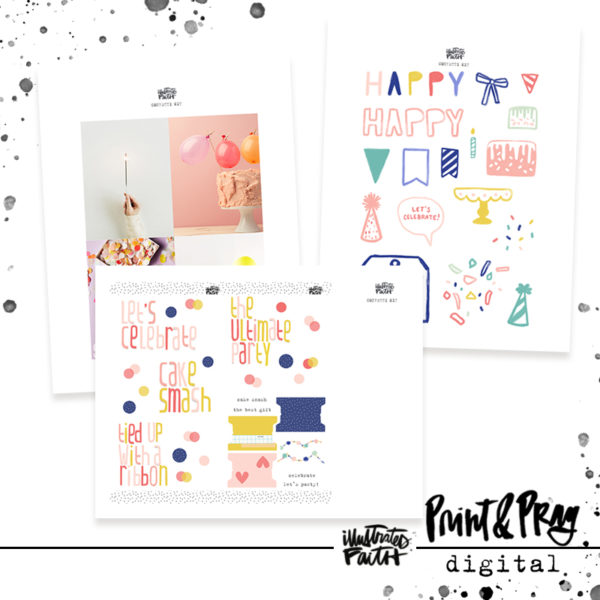 Illustrated Faith Confetti Digital Ephemera