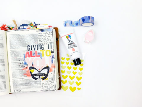 Print & Pray Hybrid Bible Journaling // All To You