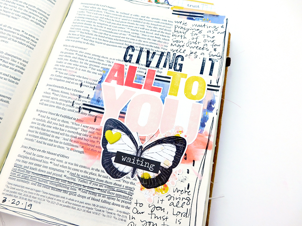 Print & Pray Hybrid Bible Journaling by Elaine Davis // All To You