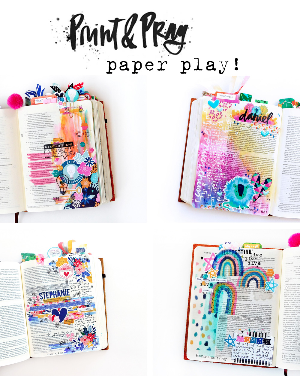 Paper Play - Print & Pray Project Round-Up! by Elaine Davis using digital printables
