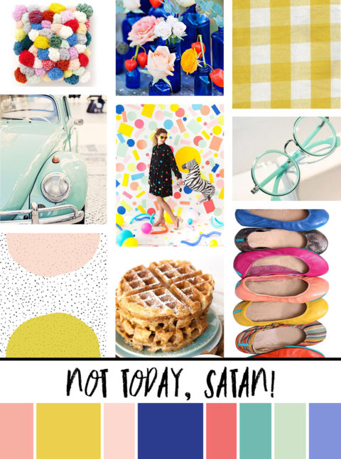 March Artist Mood Board & New Releases: Not Today, Satan!
