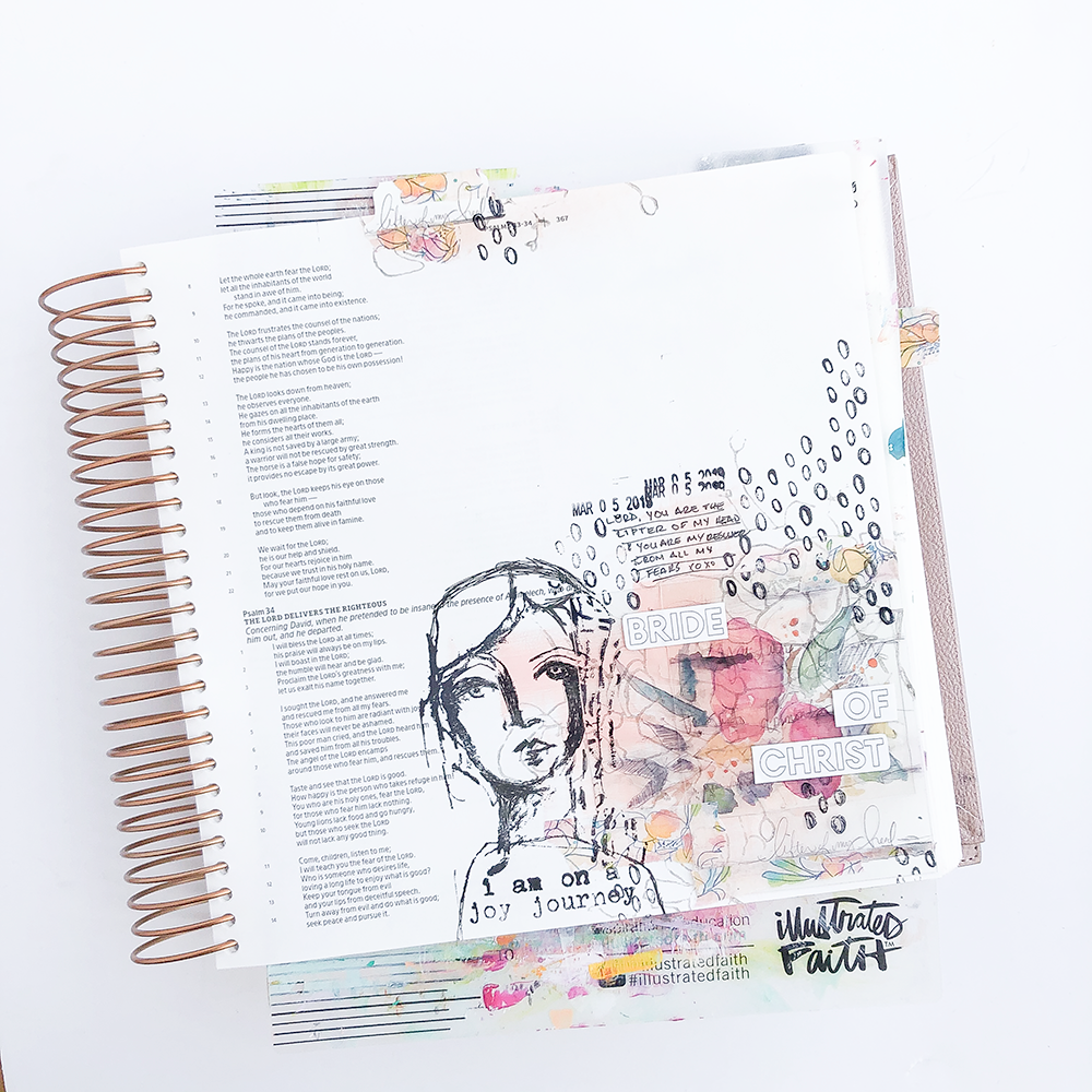 Mixed Media Bible Journaling Step by Step Process by Heather Greenwood | The Joy Journey - Lifter of my Head