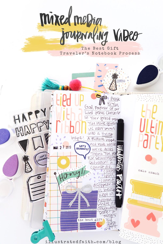 The Best Gift | Confetti Traveler's Notebook Process Video by Jillian aka Hello Jillsky | 1 Peter 1:3-5