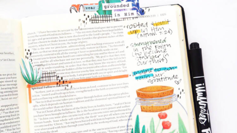 Hybrid Bible Journaling Process Video | Roots | Colossians 2:6-7