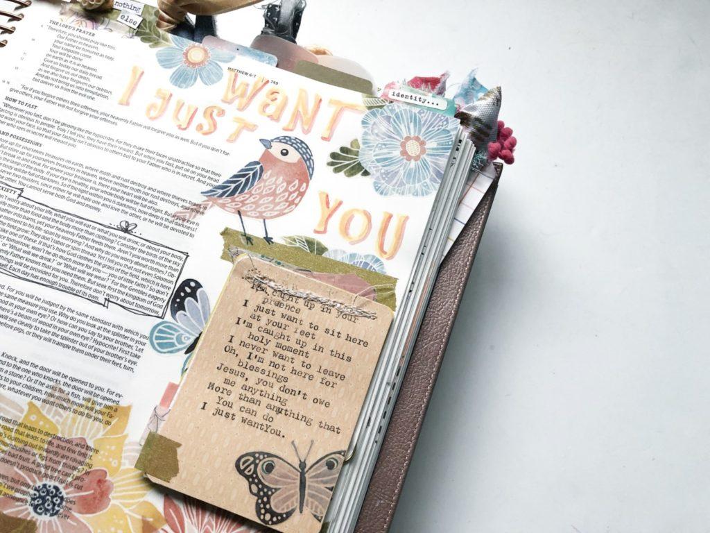 Print and Pray Hybrid Bible Journaling by Becca Jensen using digital printables | Forgiven and Free | Matthew 6